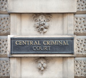 Central Criminal Court Sign in London